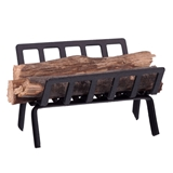 Fireplace Interior Wood Rack with Logs