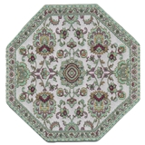 Mint Damask Octagon Rug