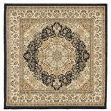 Black and Gold Large Square Aladin Rug