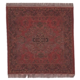 Antique Turkish Red Square Rug