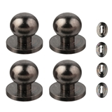 Four Gunmetal Door Knobs with Escutcheons