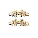 Gold Plated Brass Double Flower Drawer Pull