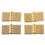 Gold Plated Brass Square Hinge by Houseworks