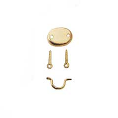Brass Hepplewhite Drawer Pull by Houseworks