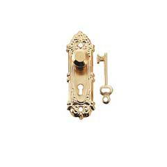 Brass Opryland Doorknob w/Plate and Key