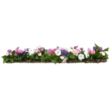 Purple, Pink and White Floral Border