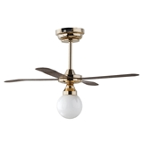 Ceiling Fan & White Globe Light by Houseworks