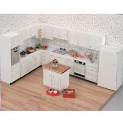 Unassembled/Unfinished Complete Kitchen Set