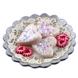 Valentine Heart Cookies and Candies