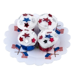 Red, White and Blue Star Cupcakes