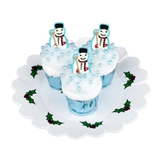 Three Snowmen Cupcakes
