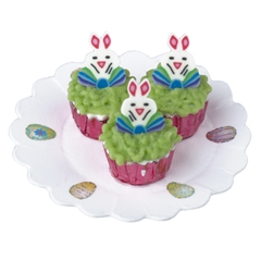 Three Bunnies on Green Grass Cupcakes