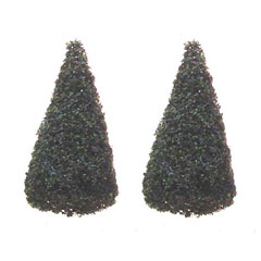 Pair of Small Evergreen Trees