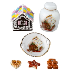 6-Pc. Gingerbread Accessory Set by Reutter Porzellan