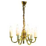 6-Arm Colonial Chandelier