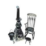 Pot Belly Stove and Rocker Chrysnbon® Kit