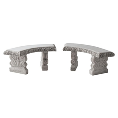 Pair of Curved Garden Benches