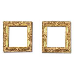 Two Square Shell Accented Picture Frames