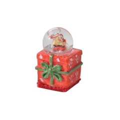 Tiny Christmas Present Snow Globe