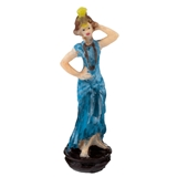 Blue Fashionista Figurine