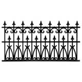 2-Pc Ornate Black Fencing Set