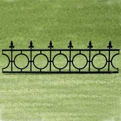 2-Pc Widow's Walk Black Fencing