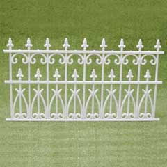 2-Pc. Ornate White Fencing Set
