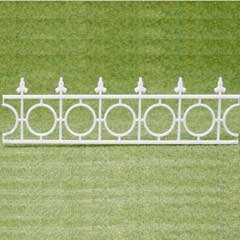 2-Pc Widow's Walk White Fencing Set
