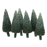 Six 1/2 inch Tall Pine Trees