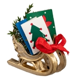 Tabletop Sleigh with Greeting Cards