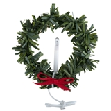 12V Lighted Wreath with Candle