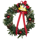 Red and Gold Sleigh Christmas Wreath