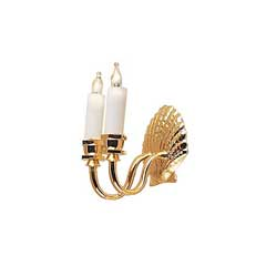 Double Candle Shell Wall Sconce