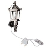 12V Nickel-Finish Coach Lamp by Houseworks