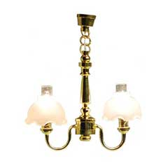 Double-Fluted Chandelier
