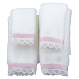 4-Pc White Plush Towel Set