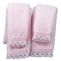 4-Pc Pink Plush Towel Set