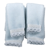 4-Pc Blue Plush Towel Set