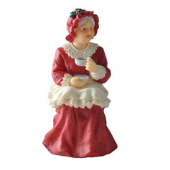 Mrs. Santa Resin Doll