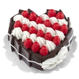 Strawberry and Whipped Cream Heart Cake