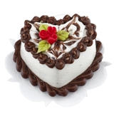 Tiny Chocolate Heart Cake