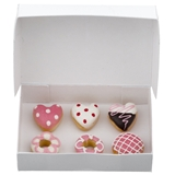 Six Valentine Donuts with Bakery Box