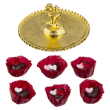 Six Valentine Chocolates with Serving Tray