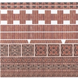 Ornamental Embossed Light Brick Accessory Sheet