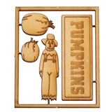 4-Pc. Pumpkins and Scarecrow Sign and Plaque Sets