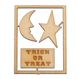 3-Pc. Trick or Treat, Moon and Star Sign and Plaque Sets