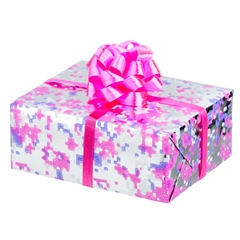 Silver and Pink Wrapped Gift