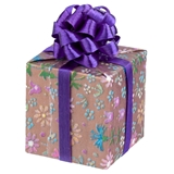 Purple Floral Wrapped Gift