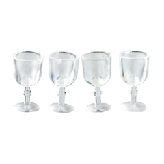 Four Plastic Wine Glasses