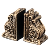 A Pair of Scroll Bookends